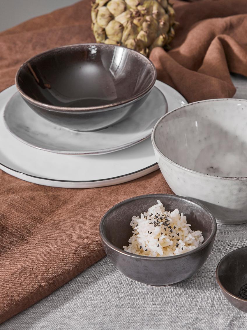 Handgemachte Frühstücksteller Nordic Sand aus Steingut, 4 Stück, Steingut, Sand, Ø 20 x H 3 cm