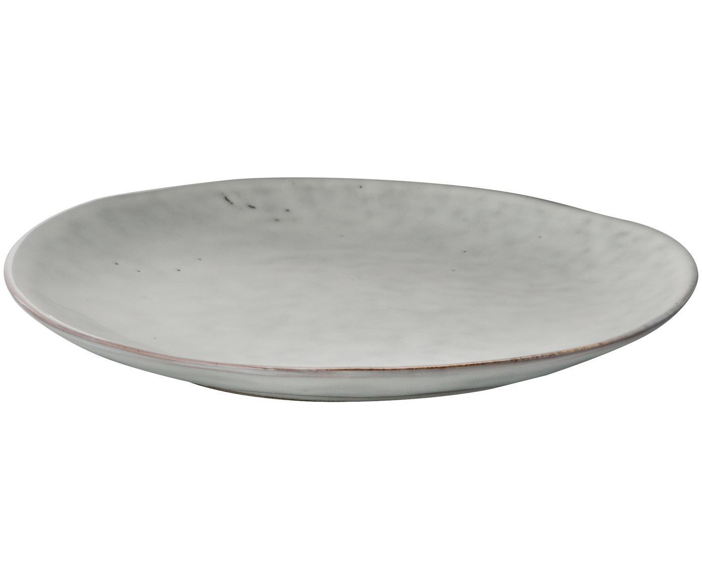 Handgemachte Frühstücksteller Nordic Sand, 4 Stück, Steingut, Sand, Ø 20 x H 3 cm