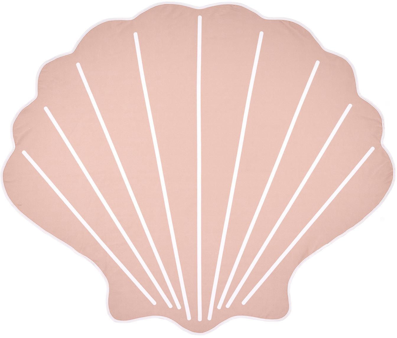 Strandtuch Shelly in Muschelform, 55% Polyester, 45% Baumwolle Sehr leichte Qualität 340 g/m², Rosa, Weiss, 150 x 130 cm