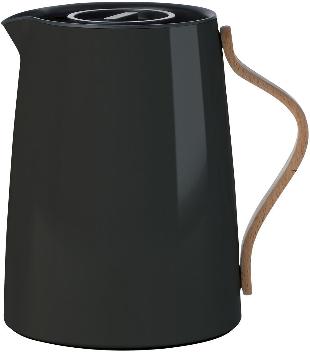 Tetera Emma, Estructura: acero, Asa: madera de haya, Negro, 1 L