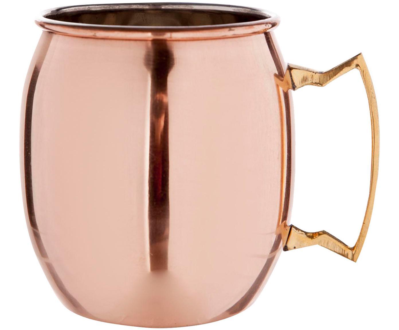Taza de cobre Moscow Mule Shiny, Acero, exterior de cobre, Cobre, Ø 9 x Al 10 cm