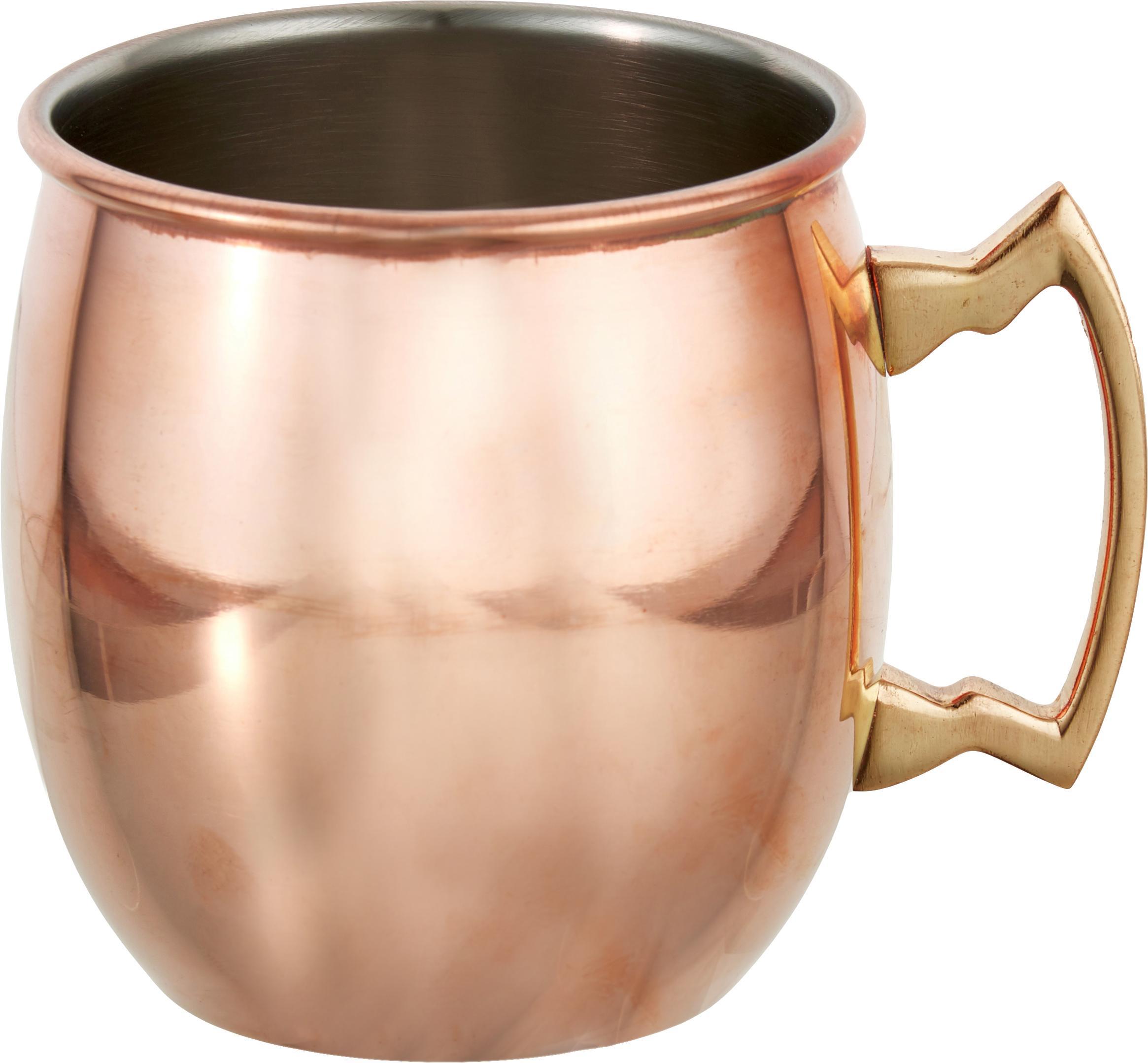 Moscow Mule-beker Shiny, Staal, buitenzijde verkoperd, Koperkleurig, Ø 9 x H 10 cm