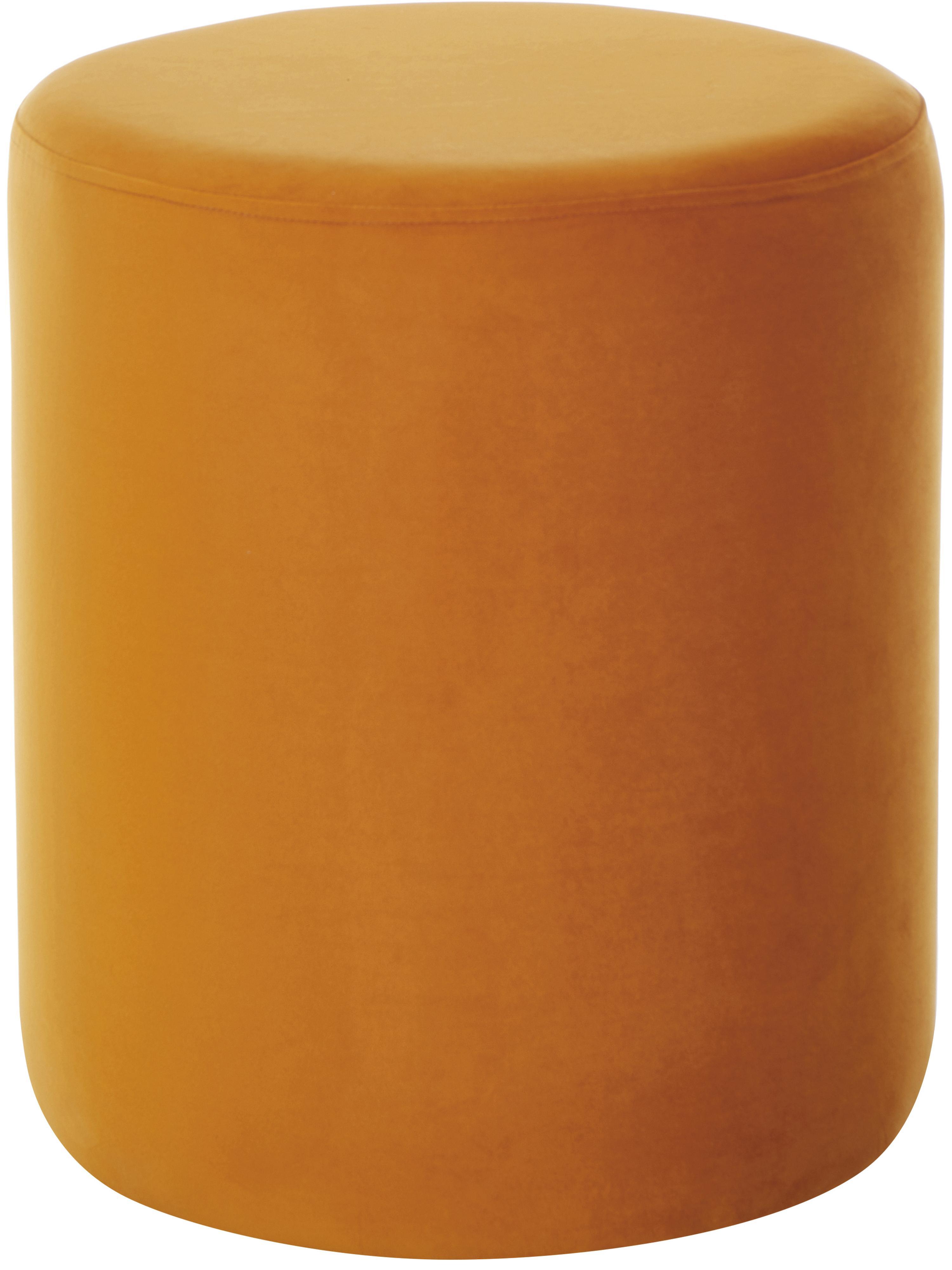 Puf z aksamitu Daisy, Tapicerka: aksamit (poliester) 2500, Aksamitny terakotowy, Ø 38 x W 45 cm
