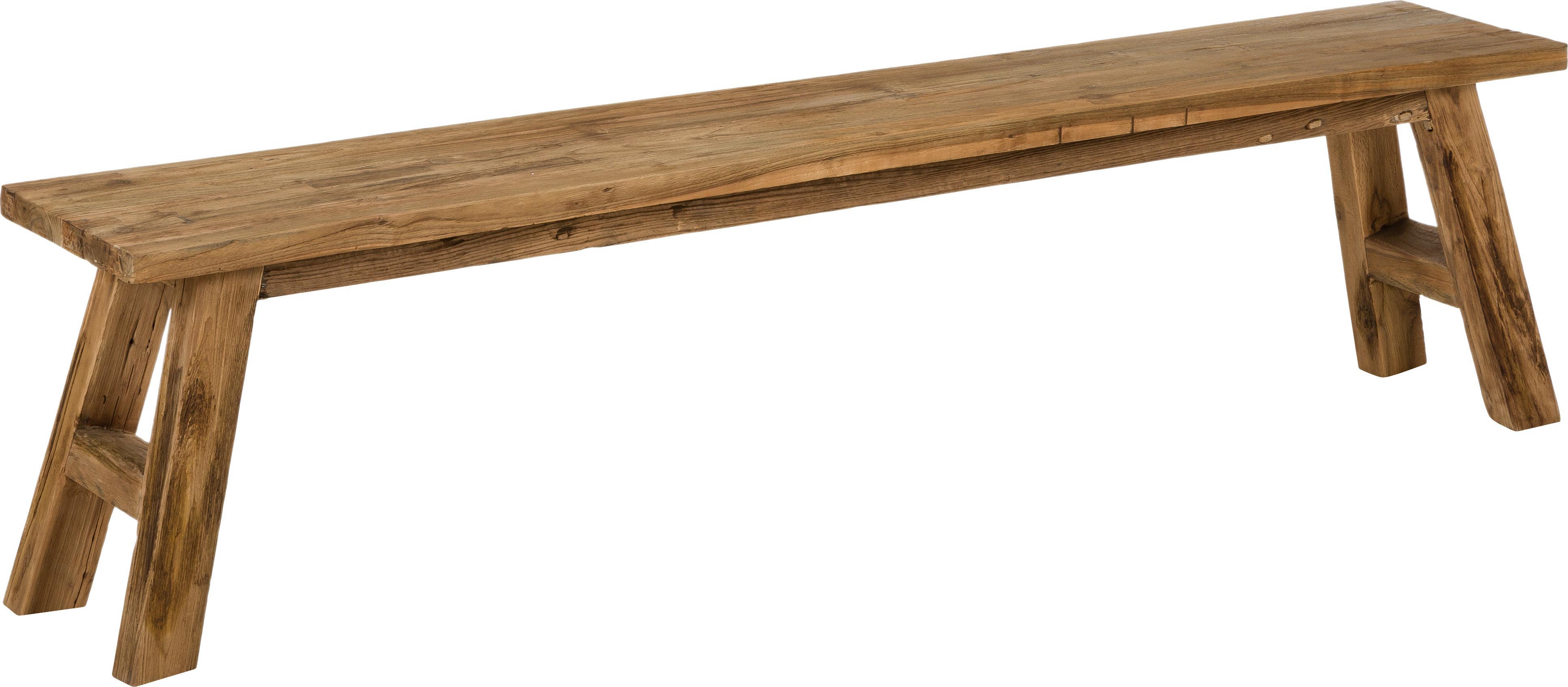 Teakhouten bank Lawas, Natuurlijk teakhout, Teakhoutkleurig, B 180 cm