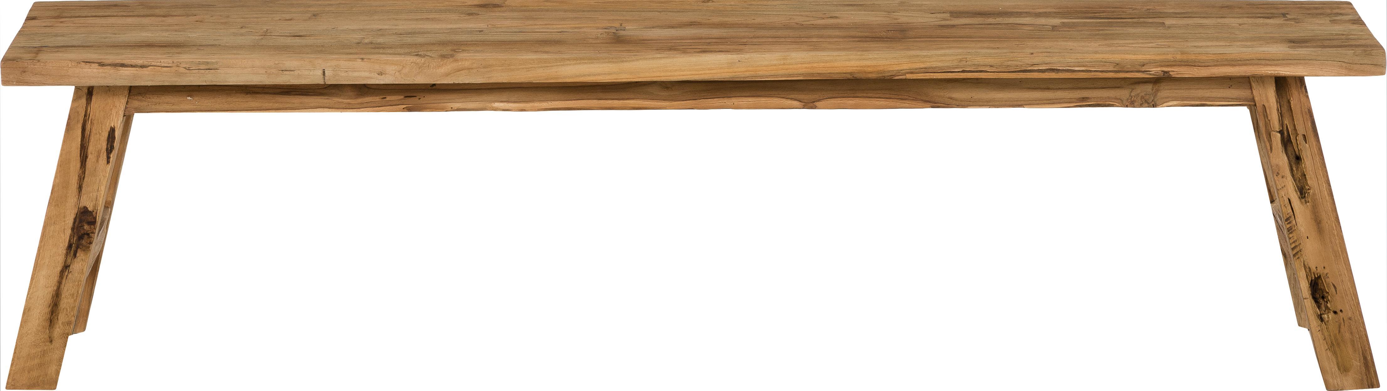 Panca in legno di teak Lawas, Legno di teak, finitura naturale, Legno di teak, Larg. 180 x Alt. 45 cm
