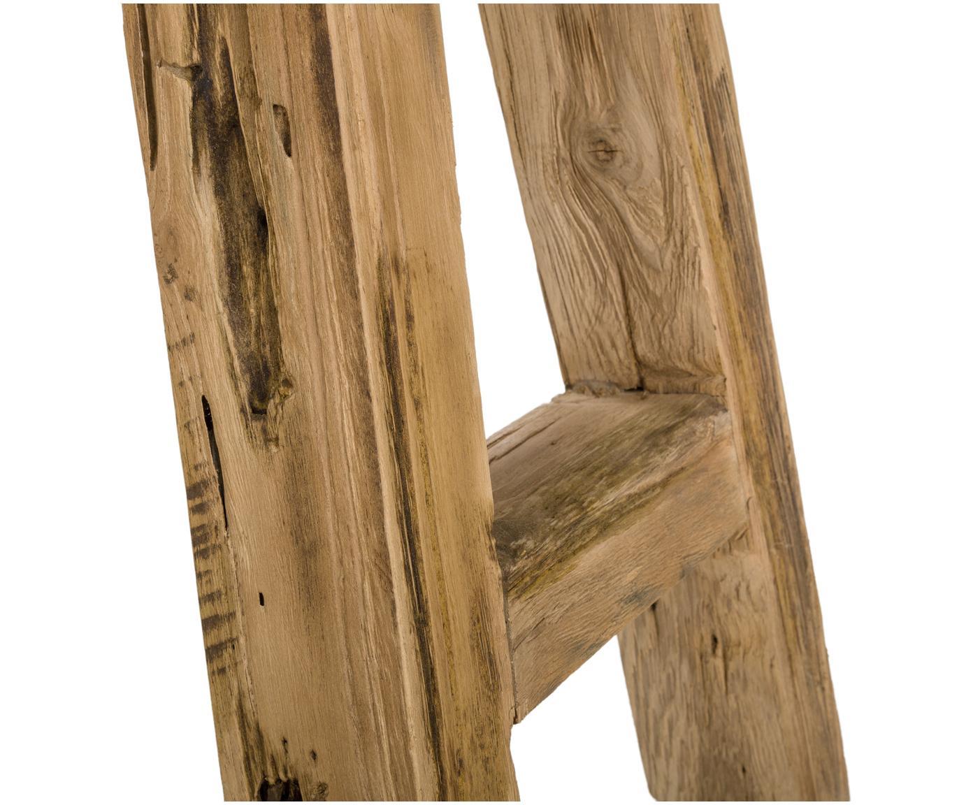 Ławka z drewna tekowego Lawas, Naturalne drewno tekowe, Drewno tekowe, S 180 x H 45 cm