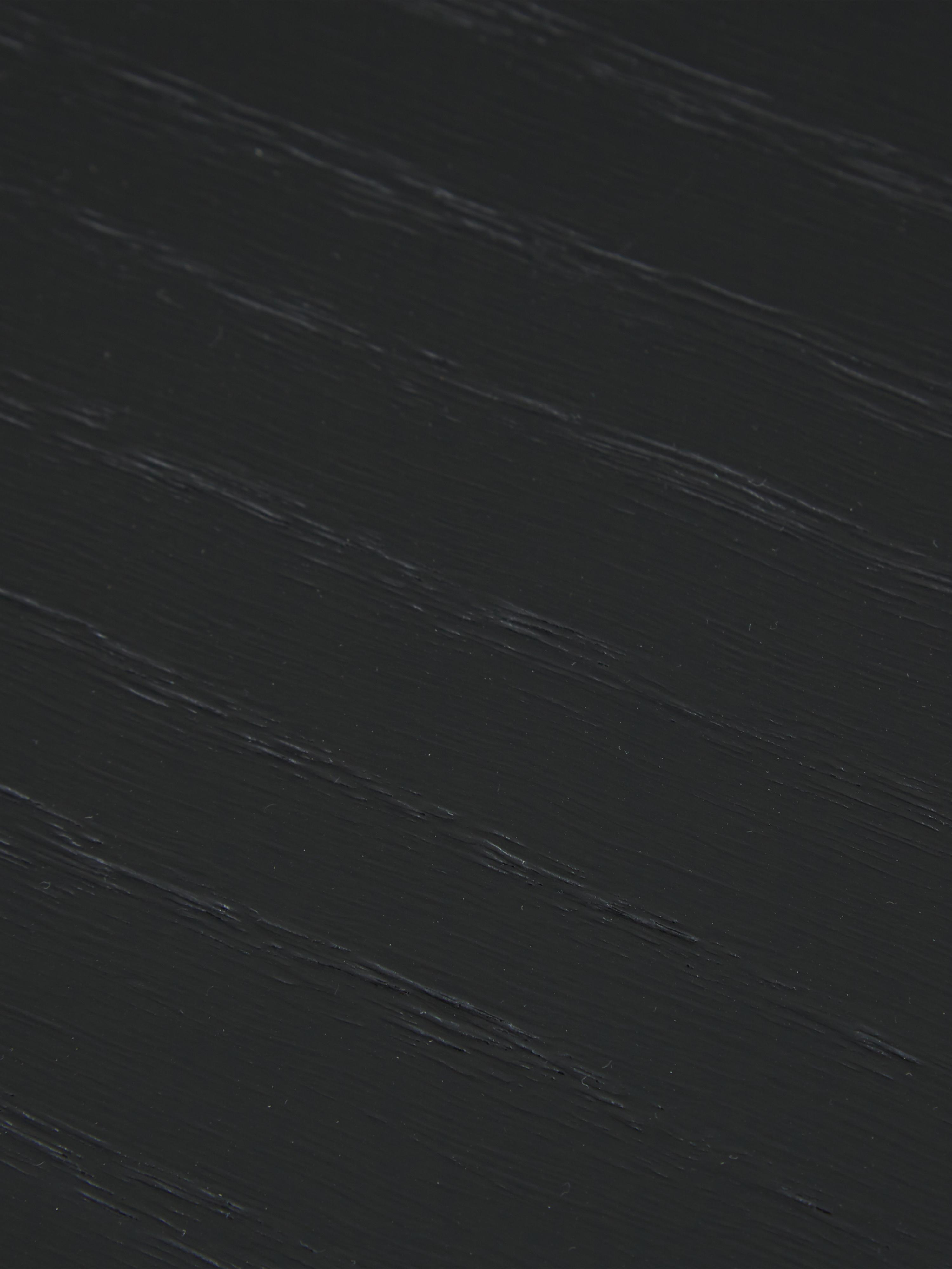 Beistelltisch Renee mit Ablagefach, Gestell: Metall, pulverbeschichtet, Schwarz, Ø 44 x H 49 cm