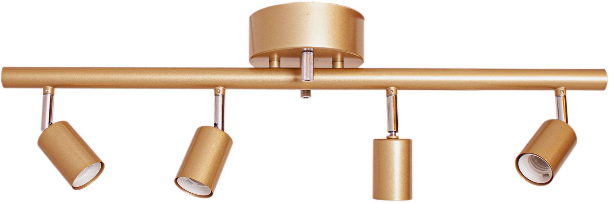 Lampa sufitowa Correct, Stelaż: metal powlekany, Odcienie złotego, S 83 x W 18 cm