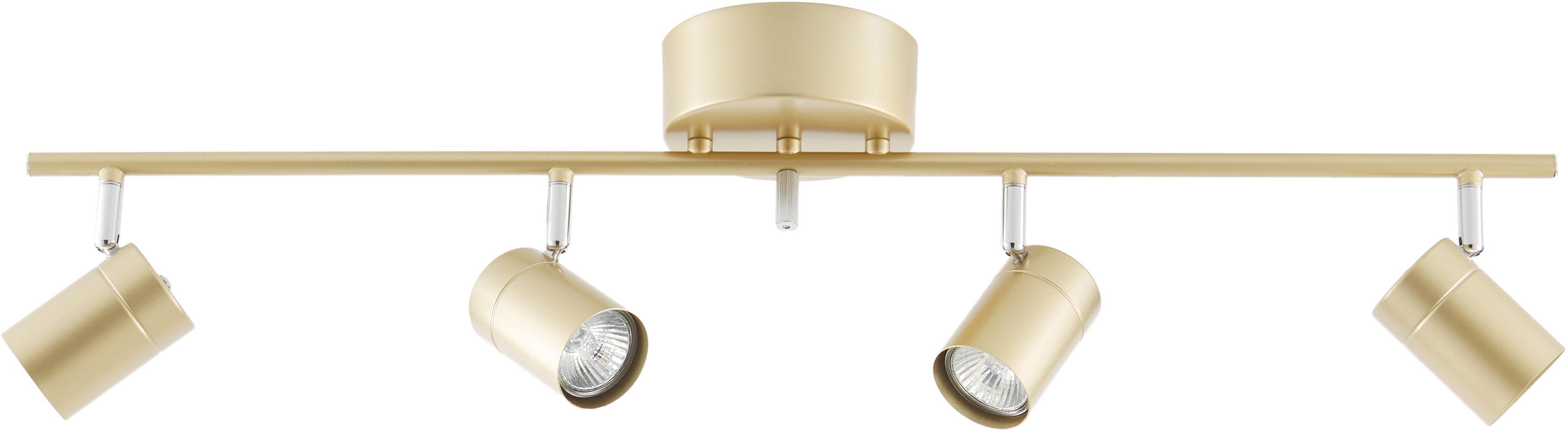 Deckenstrahler Correct, Gestell: Metall, beschichtet, Baldachin: Metall, beschichtet, Goldfarben, 83 x 18 cm