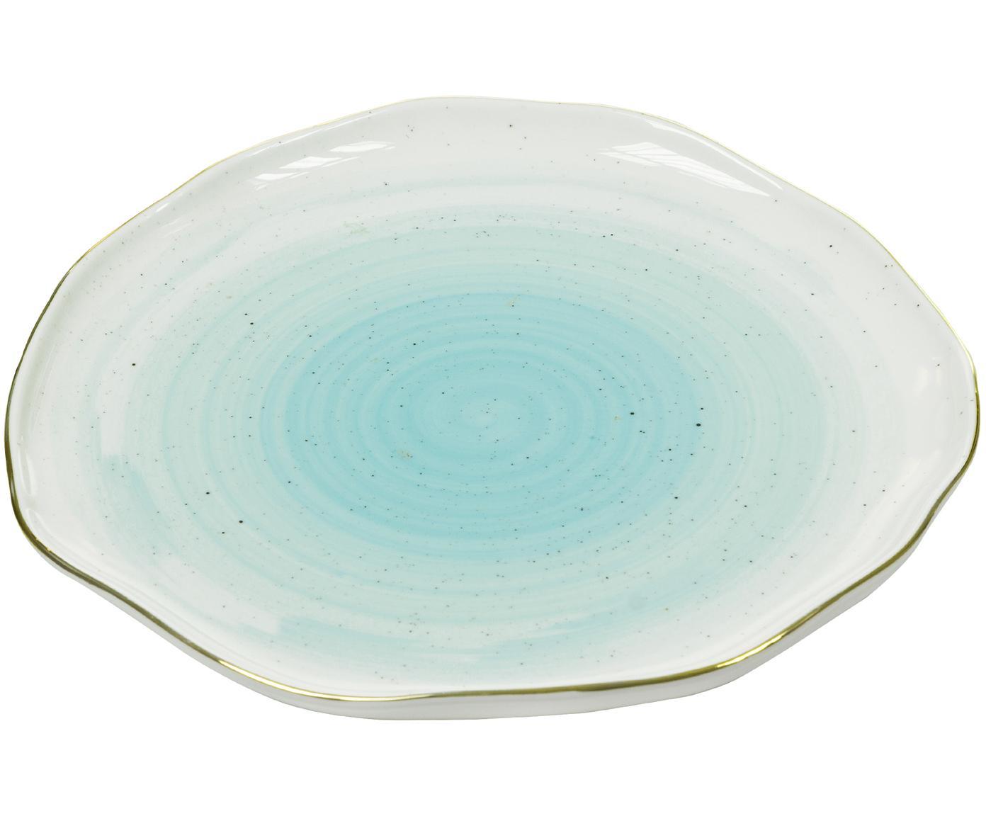 Piatto per il pane fatto a mano Bol, Porcellana, Turchese blu, Ø 16 cm