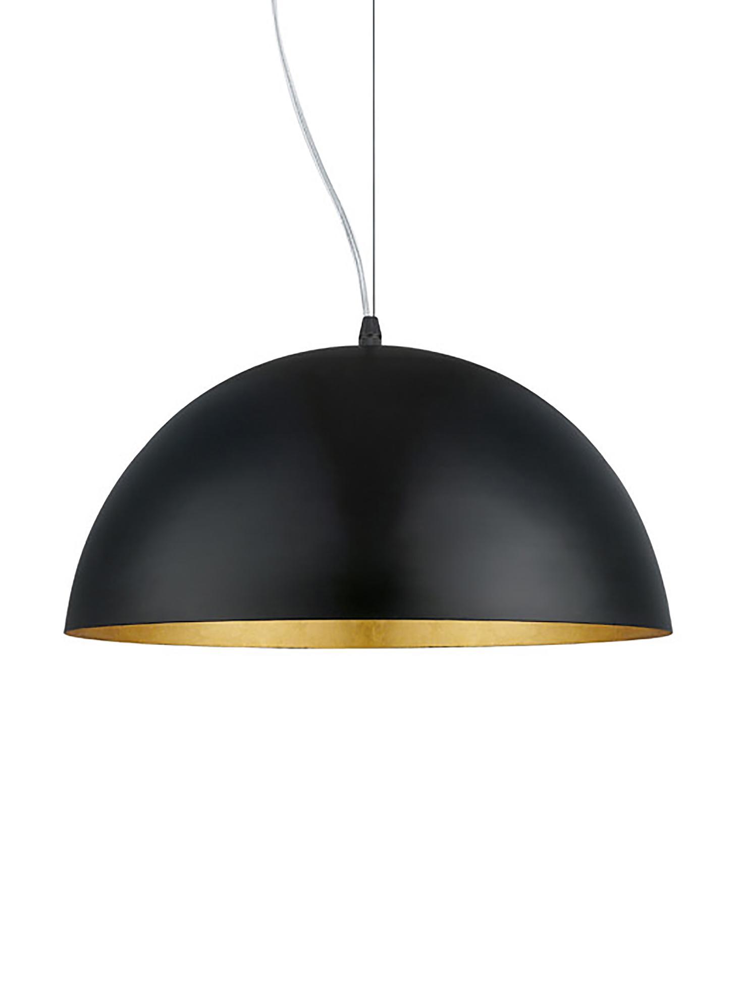 Lámpara de techo Brad, Anclaje: metal con pintura en polv, Pantalla: metal con pintura en polv, Cable: plástico, Negro, Ø 38 x Al 18 cm