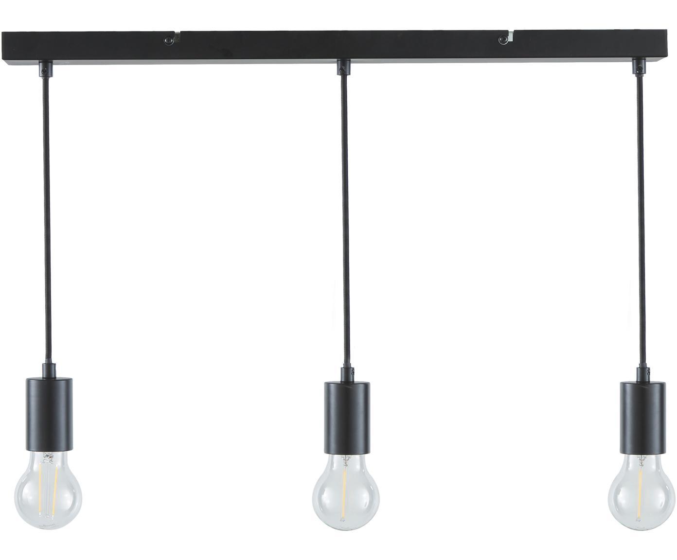 Lampada a sospensione Dina, Nero, Larg. 60 x Alt. 100 cm