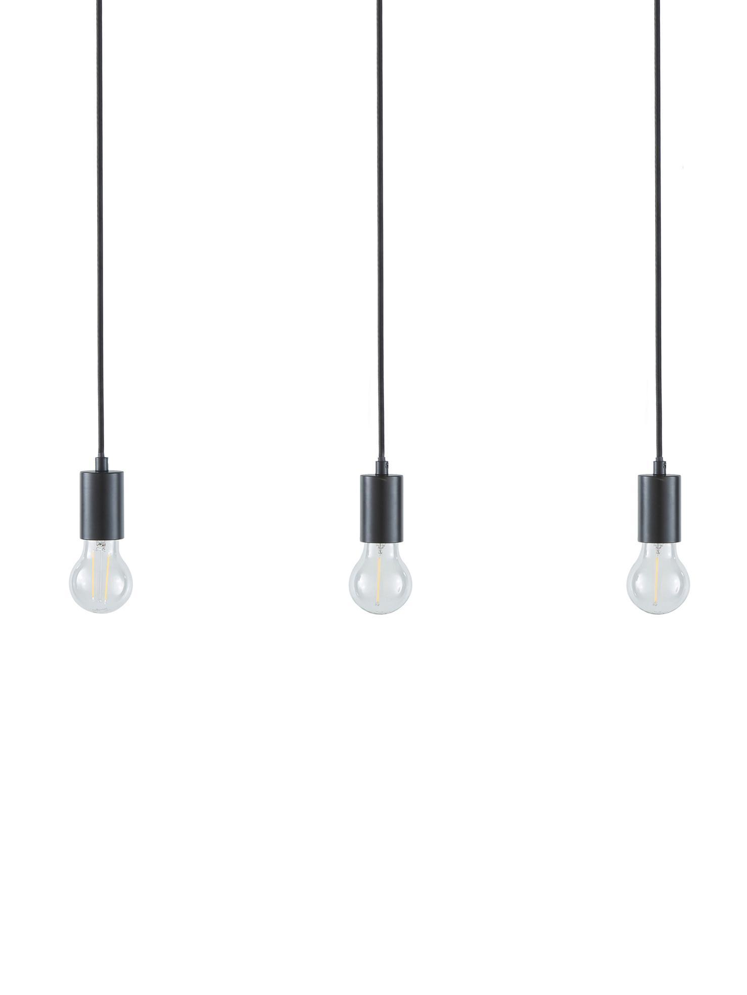 Hanglamp Dina, Zwart, 60 x 100 cm