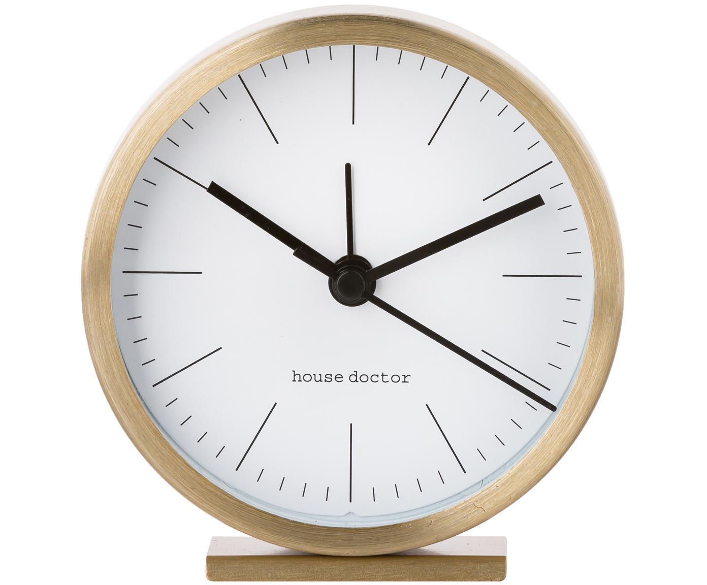 Zegar stołowy Hannah, Odcienie złotego, Ø 9 x W 9 cm