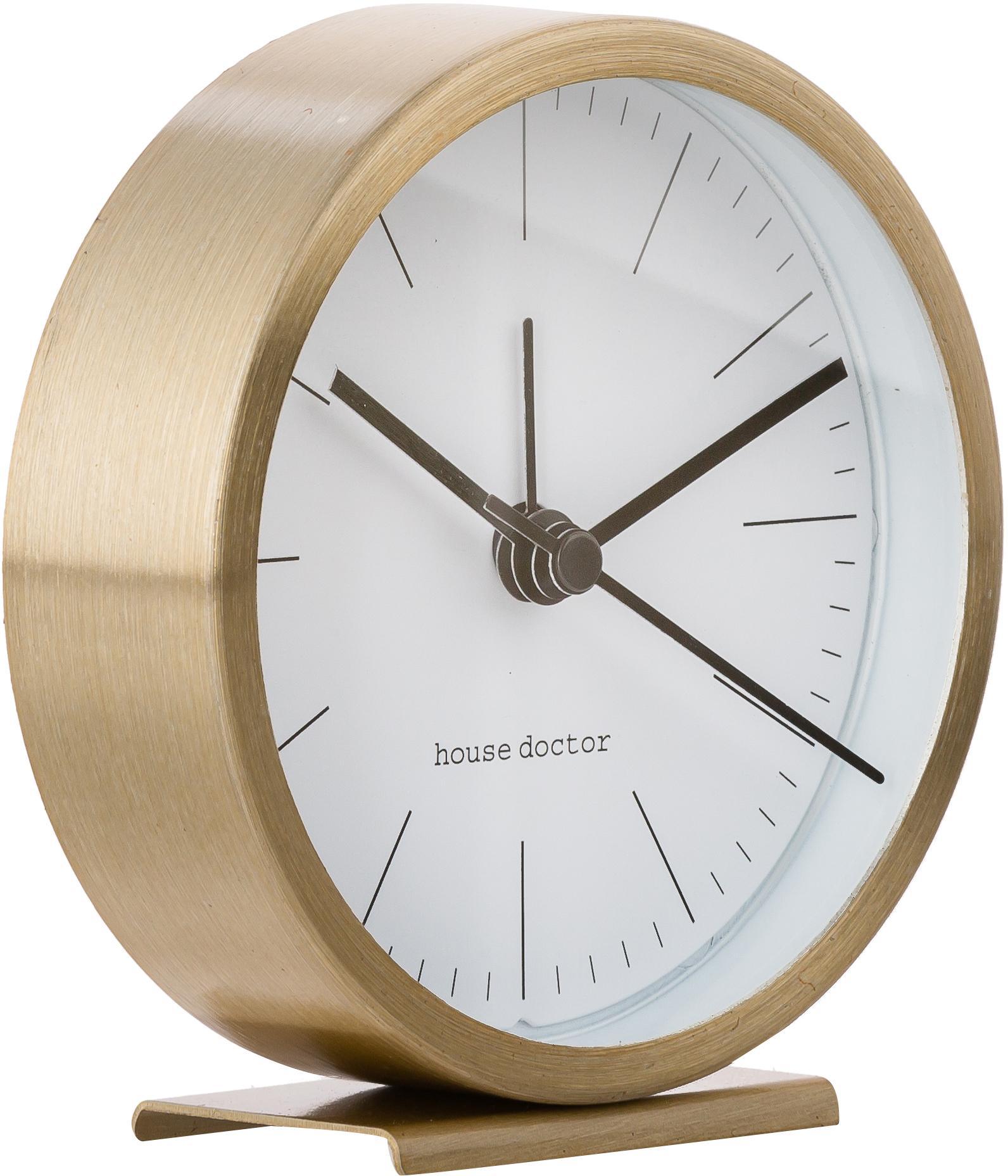Reloj de mesa Hannah, Dorado, Ø 9 x Al 9 cm