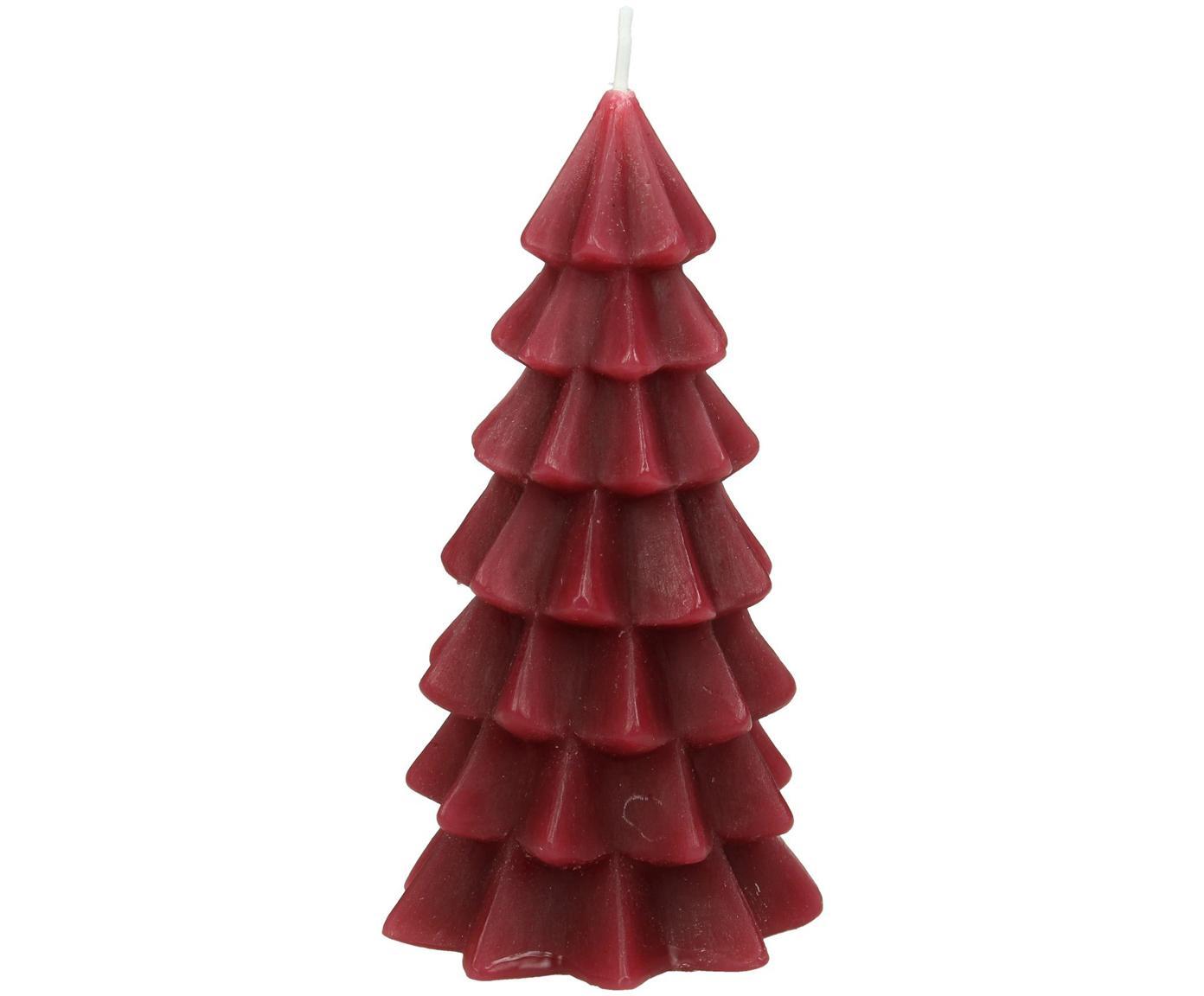 Candela natalizia a forma di albero Christmas Tree, Paraffina, Rosso, Ø 6 x Alt. 12 cm