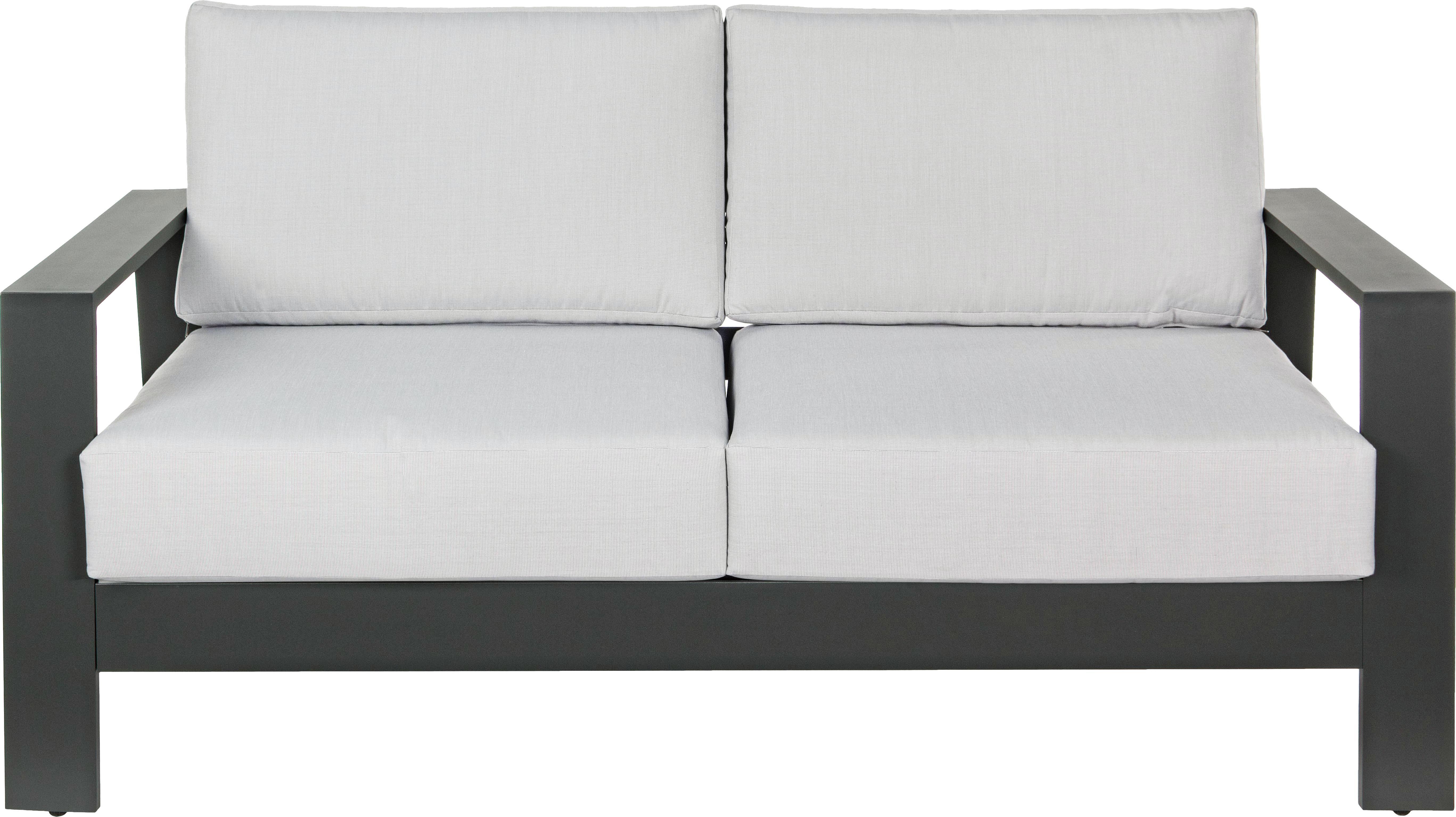 Outdoor loungeset Atlantic, 4-delig, Frame: gepoedercoat aluminium, Antraciet, lichtgrijs, Verschillende formaten