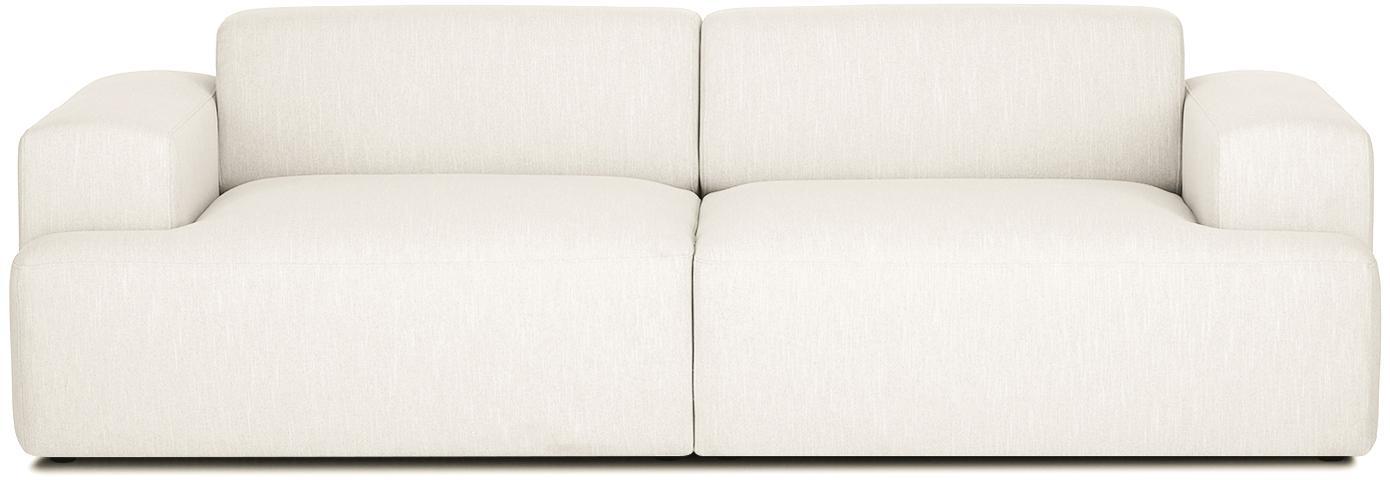 Sofa Melva (3-Sitzer), Bezug: Polyester Der hochwertige, Gestell: Massives Kiefernholz, Spa, Füße: Kiefernholz, Webstoff Beige, B 240 x T 101 cm