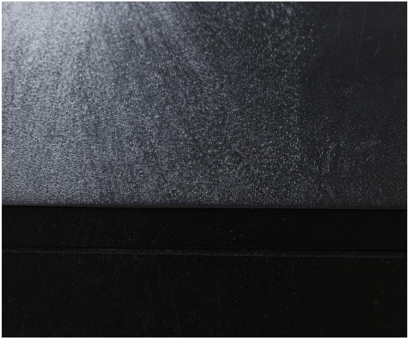 Szafka z szufladami  z plecionki wiedeńskiej Vienna, Korpus: lite drewno mangowe, laki, Nogi: metal malowany proszkowo , Czarny, beżowy, S 105 x W 78 cm