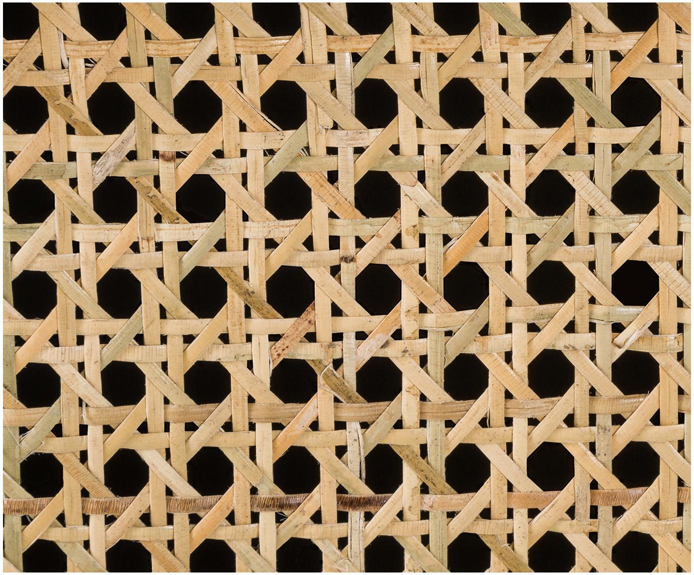 Ladekast Vienna met Weens vlechtwerk, Frame: gelakt massief mangohout,, Poten: gepoedercoat metaal Bambo, Zwart, beige, 105 x 78 cm