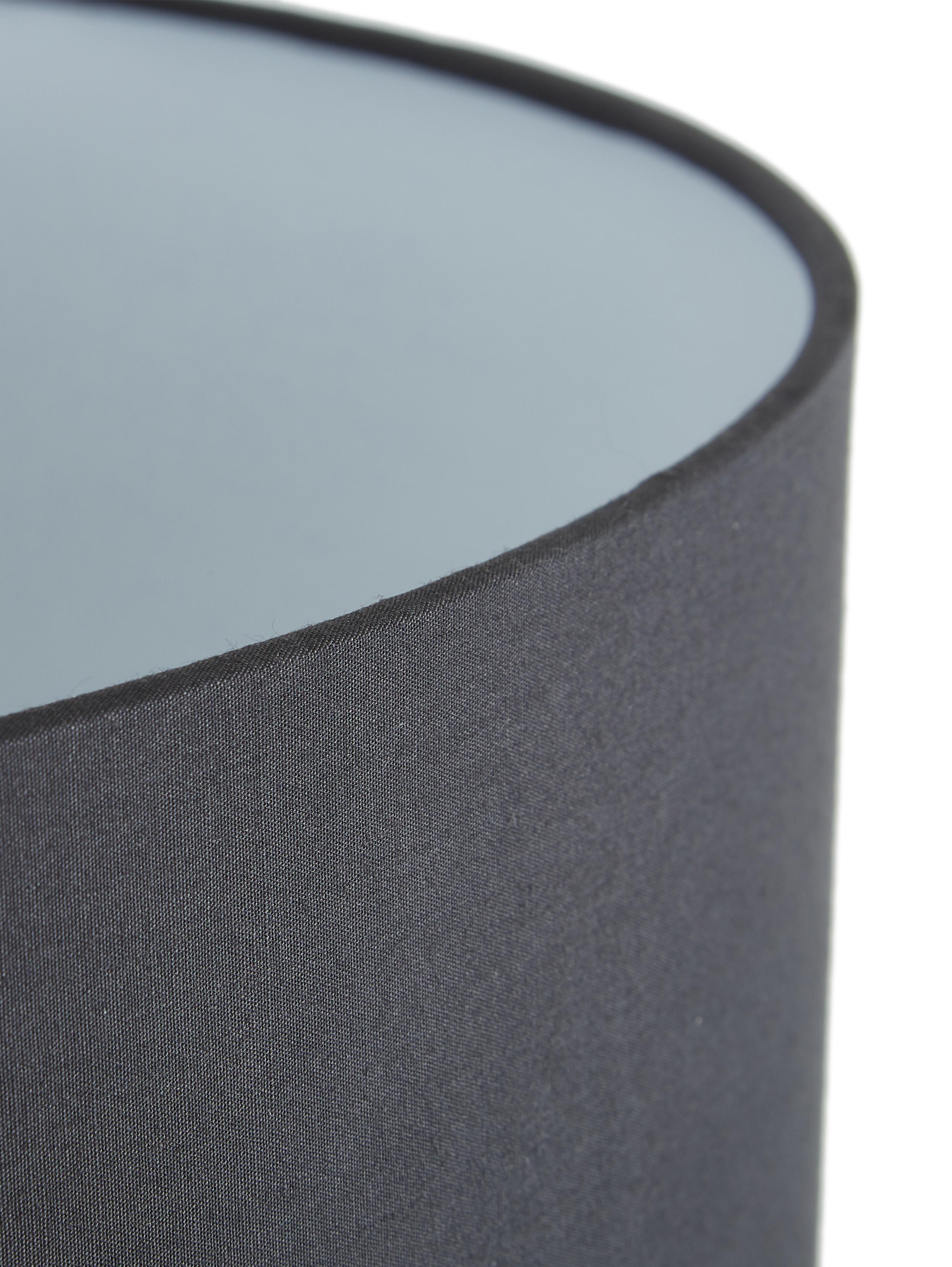 Lampada da terra Jake, Paralume: tessuto, Base della lampada: metallo verniciato a polv, Paralume: nero Base lampada: nero opaco, Ø 50 x Alt. 158 cm