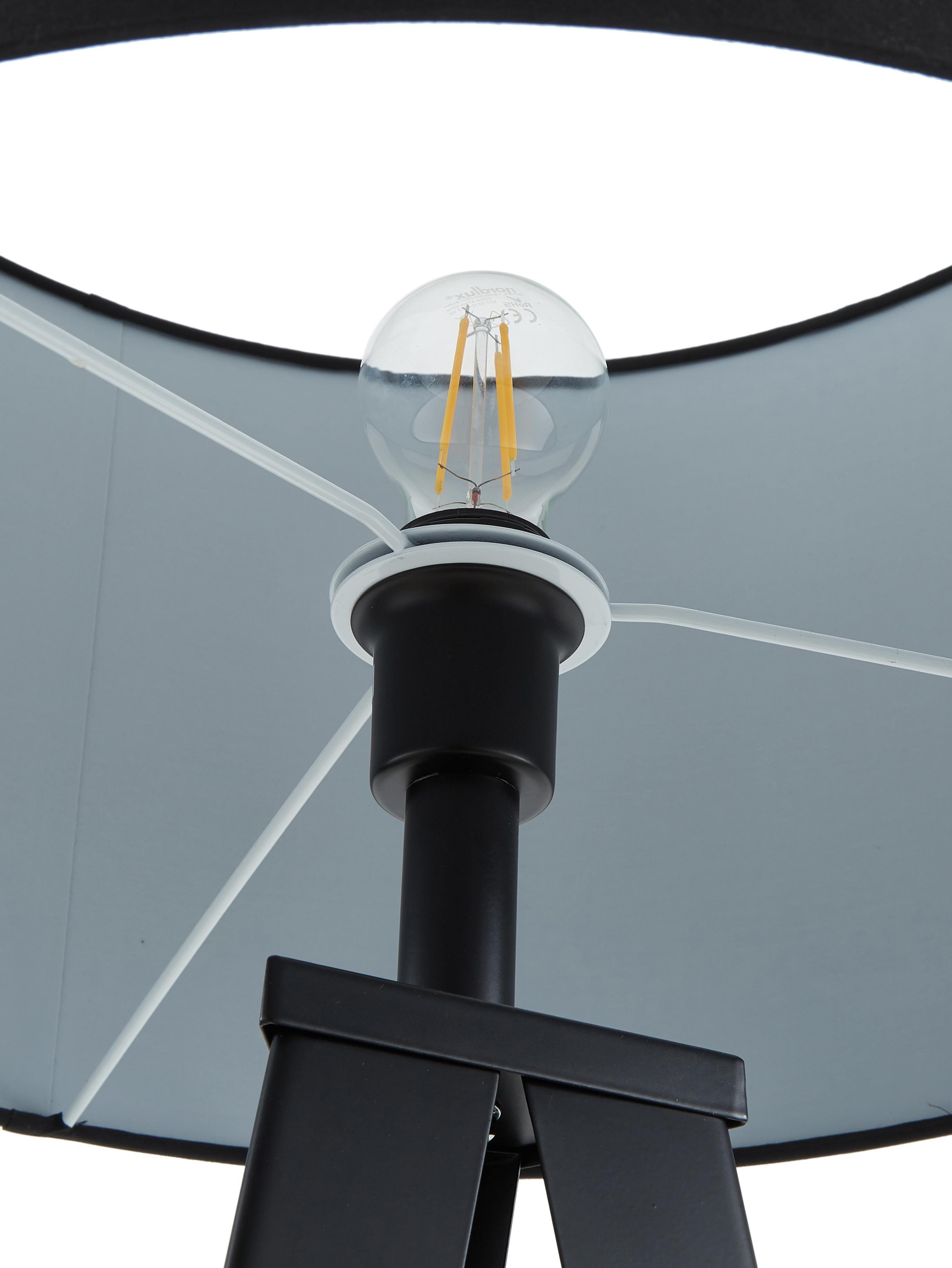 Stehlampe Jake, Lampenschirm: Textil, Lampenschirm: SchwarzLampenfuss: Mattschwarz, Ø 50 x H 158 cm