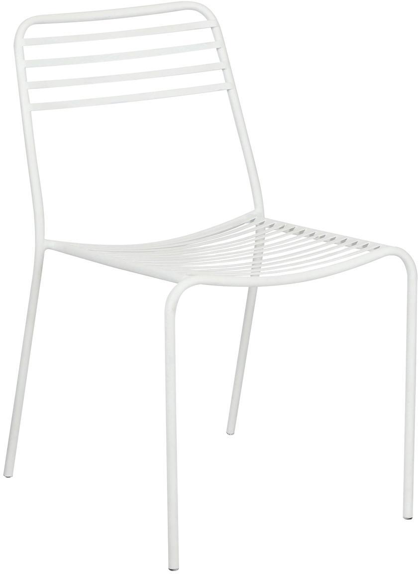 Balkonstühle Tula aus Metall, 2 Stück, Metall, pulverbeschichtet, Weiss, B 48 x T 54 cm