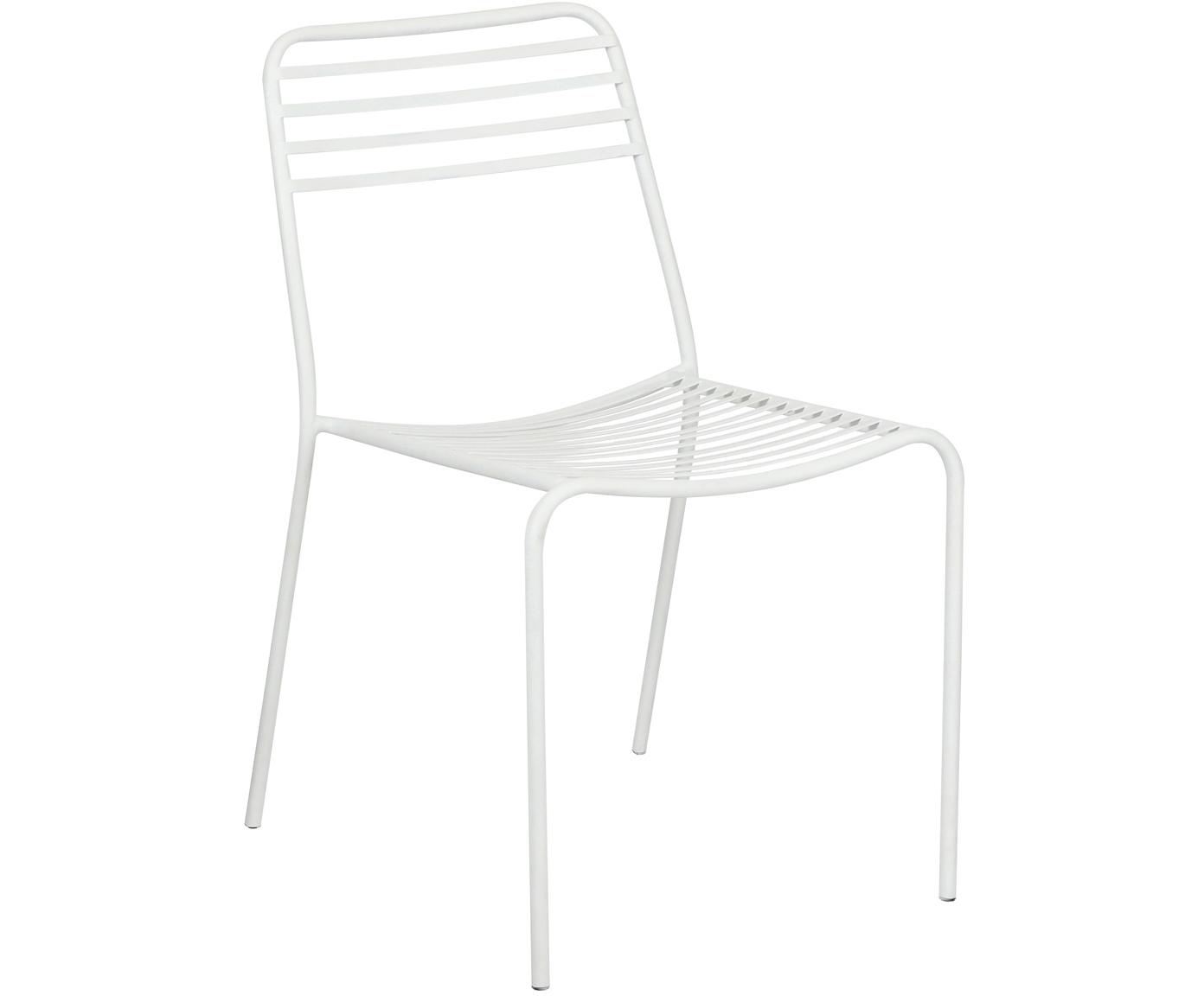 Sedia in metallo Tula 2 pz, Metallo verniciato a polvere, Bianco, Larg. 48 x Prof. 54 cm
