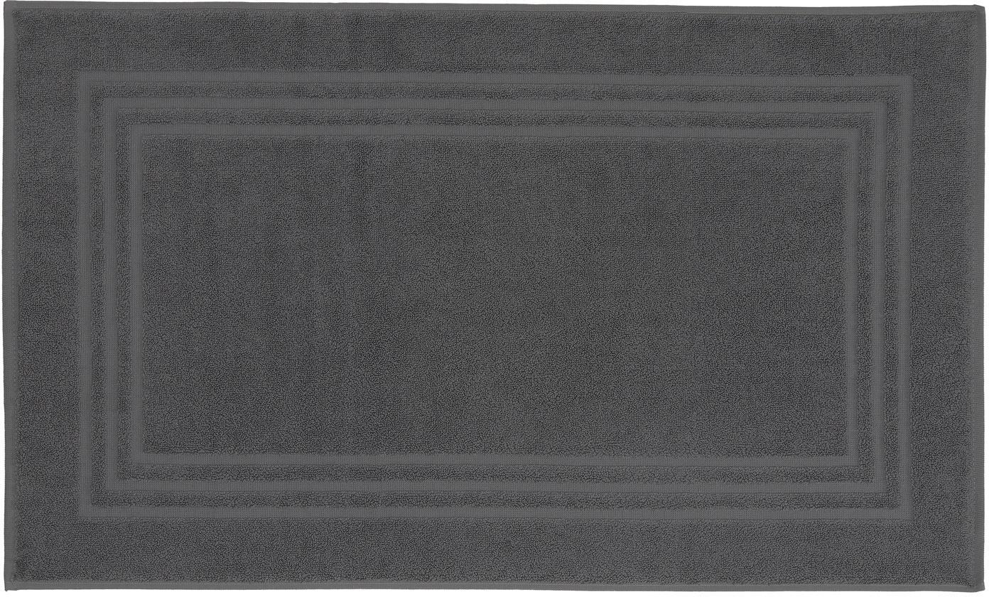 Einfarbiger Badvorleger Gentle, 100% Baumwolle, Dunkelgrau, 50 x 80 cm