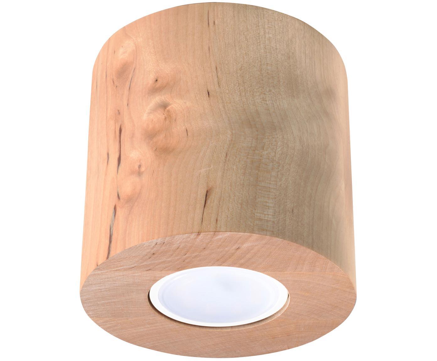 Lampa spot z drewna Roda, Jasny brązowy, Ø 10 x W 12 cm