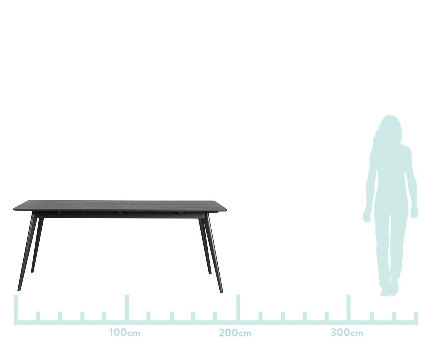 Table bois style scandinave Yumi, Noir, mat