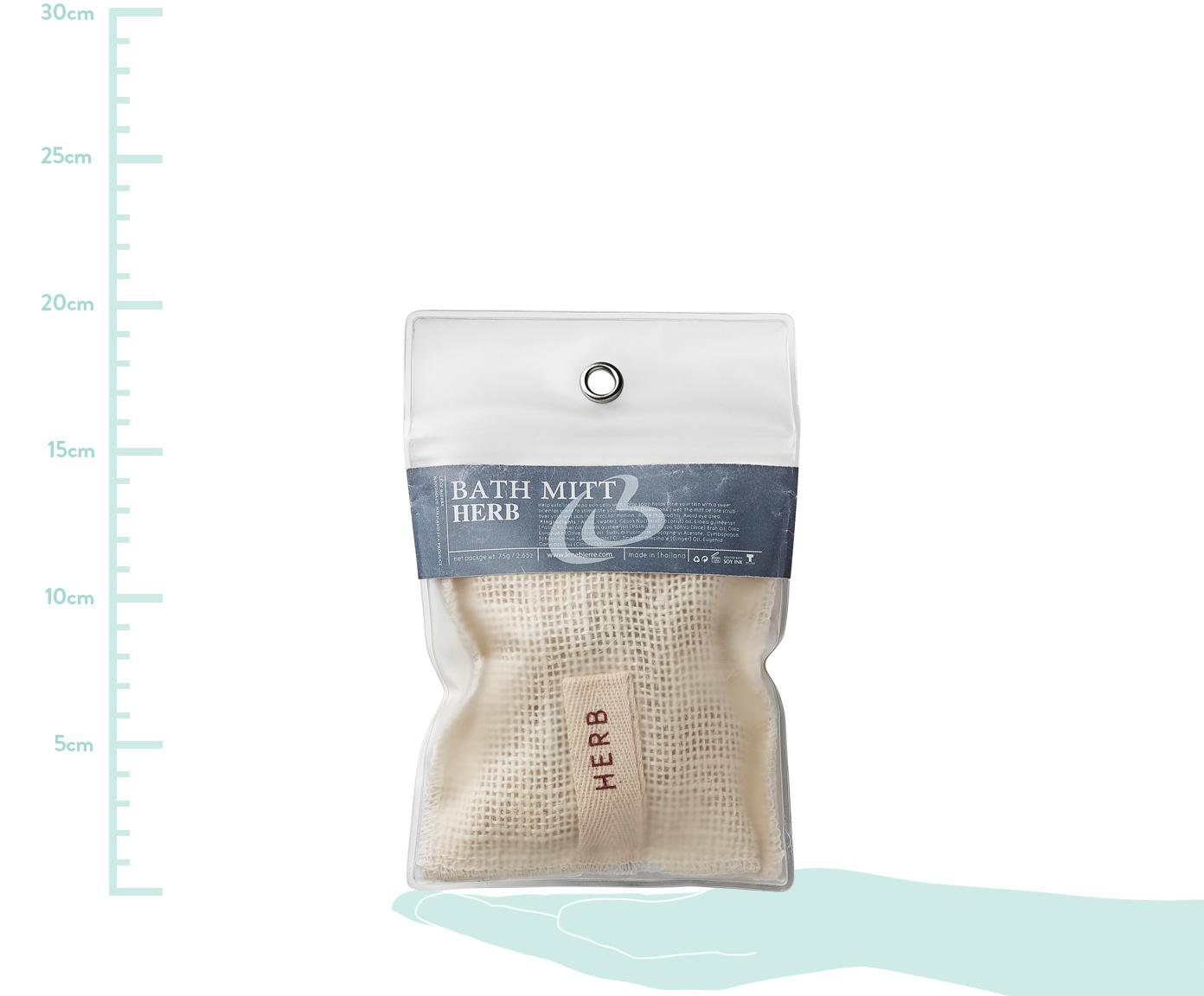 Woreczek na mydło Serena (zapach ziołowy), Jasny brązowy, transparentny, S 12 x W 20 cm