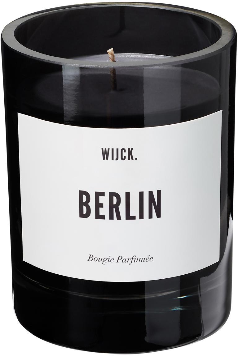 Candela profumata Berlin (limone verde, mughetto e muschio), Contenitore: vetro soffiato, Nero, Ø 8 x A 11 cm