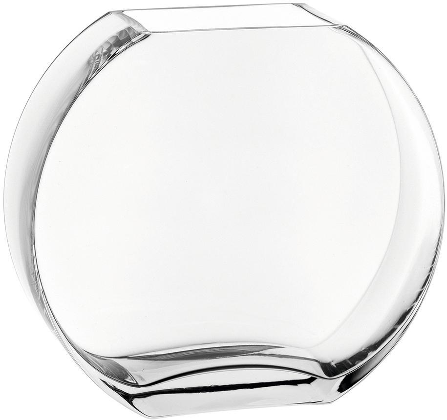 Handgemaakte glazen vaas Centro, Glas, Transparant, 25 x 23 cm