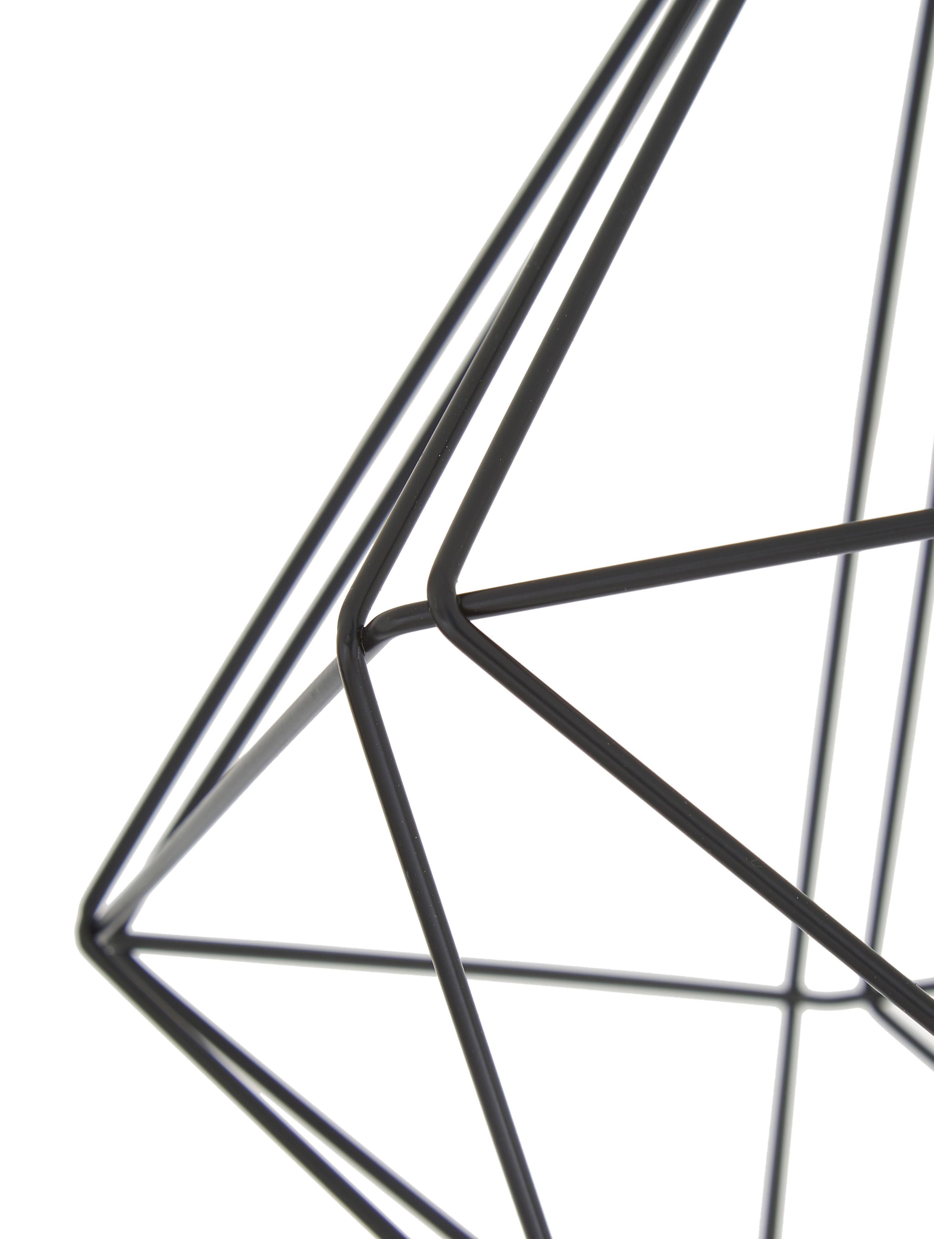 Deckenleuchte Tarbes, Stahl, Schwarz, Ø 33 x H 28 cm