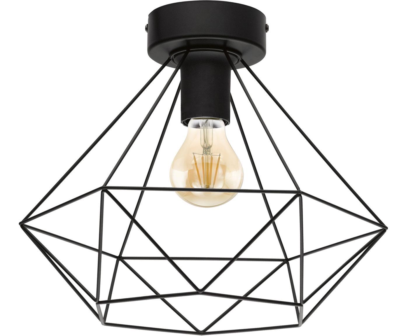 Lampa sufitowa Tarbes, Stal, Czarny, Ø 33 x W 28 cm