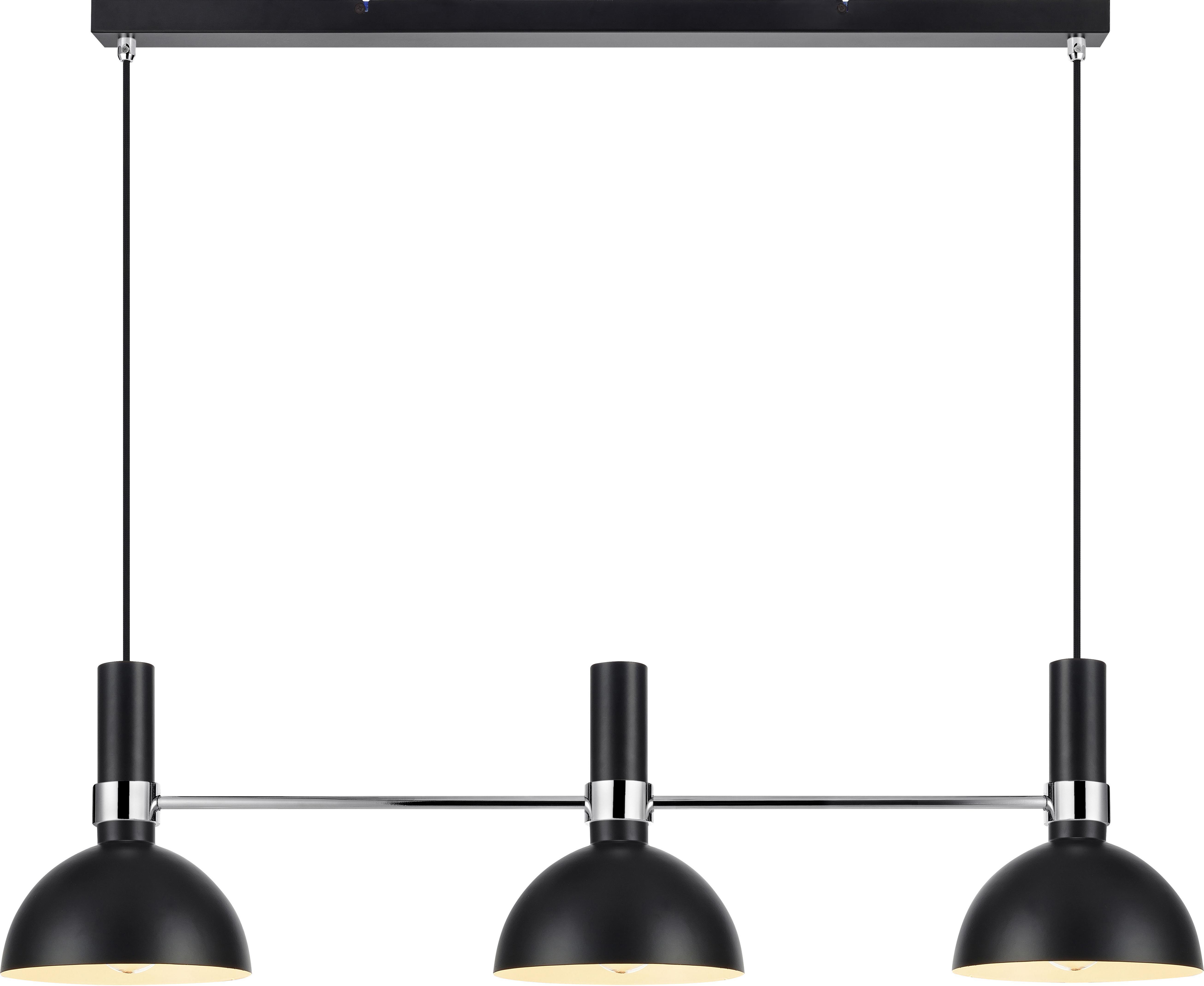 Grande suspension design Larry, Noir,chrome