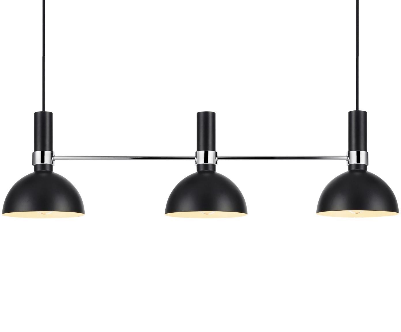 Lampada a sospensione di design Larry, Nero cromo, Larg. 100 x Alt. 24 cm