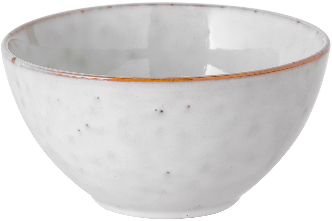 Ręcznie wykonana miska z kamionki Nordic Sand, 4 szt., Kamionka, Piaskowy, Ø 17 x W 8 cm