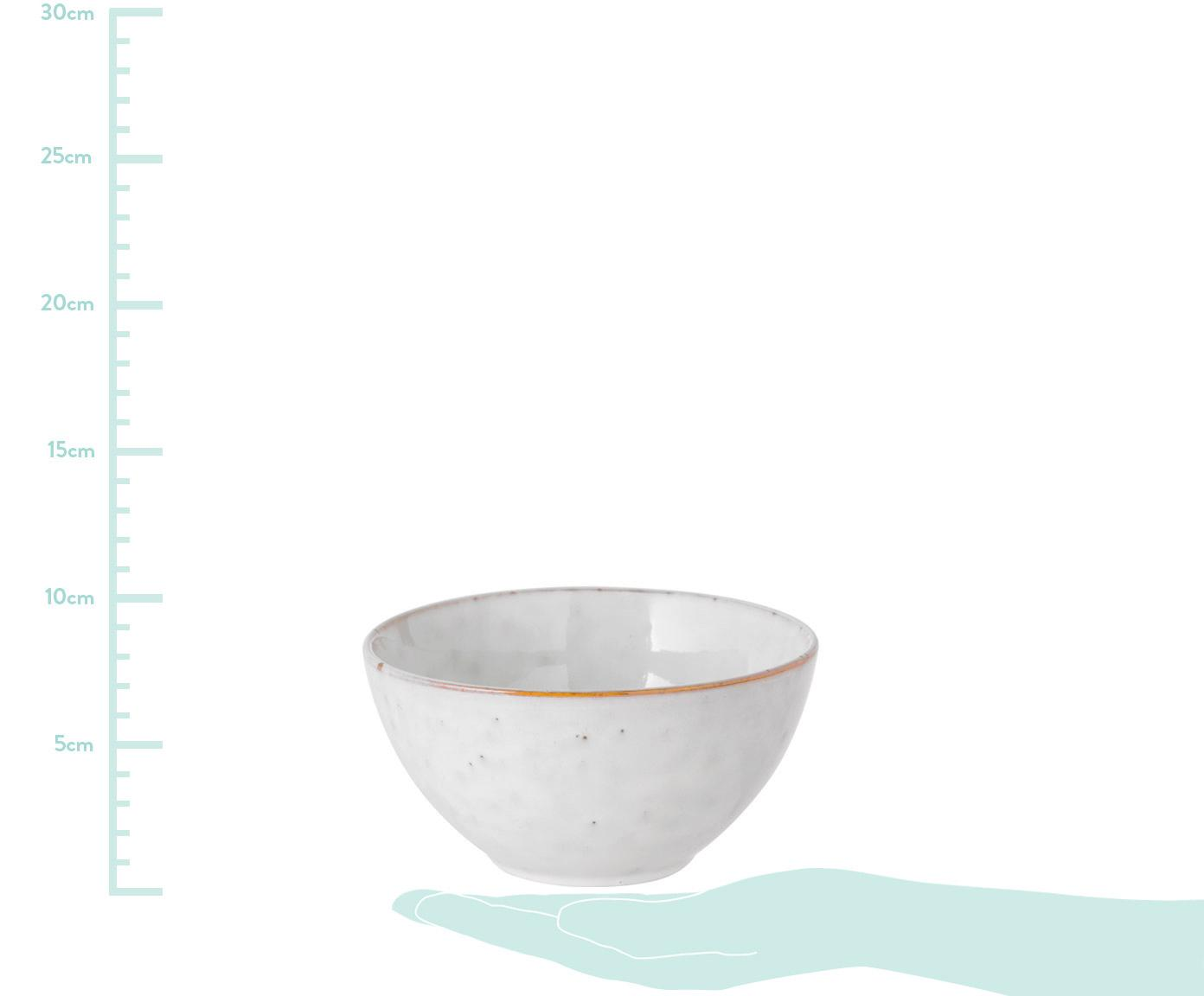 Handgemachte Schälchen Nordic Sand aus Steingut, 4 Stück, Steingut, Sand, Ø 17 x H 9 cm