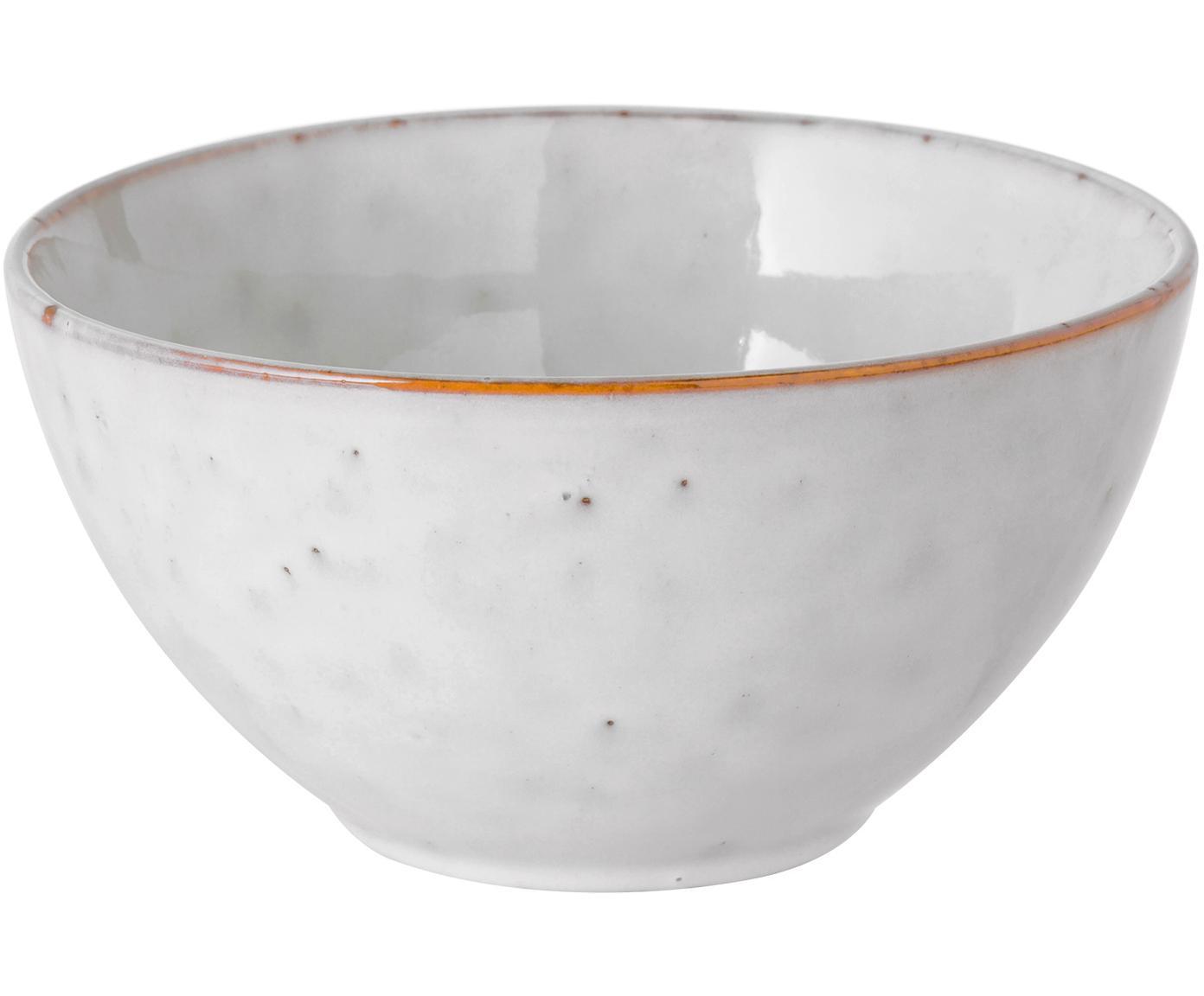 Ręcznie wykonana miska Nordic Sand, 4 szt., Kamionka, Piaskowy, Ø 17 x W 8 cm