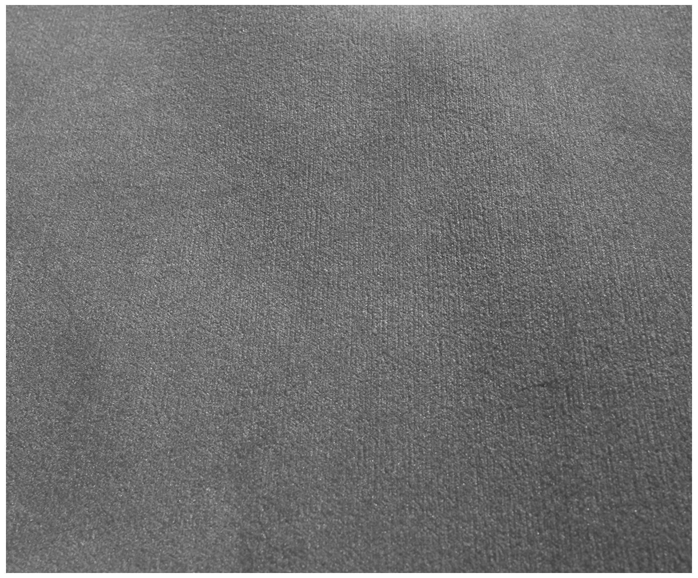 Chaise-longue in velluto Wind, Rivestimento: velluto di poliestere 45., Piedini: legno di quercia vernicia, Sottostruttura: truciolato, Grigio chiaro, Larg. 200 x Alt. 74 cm