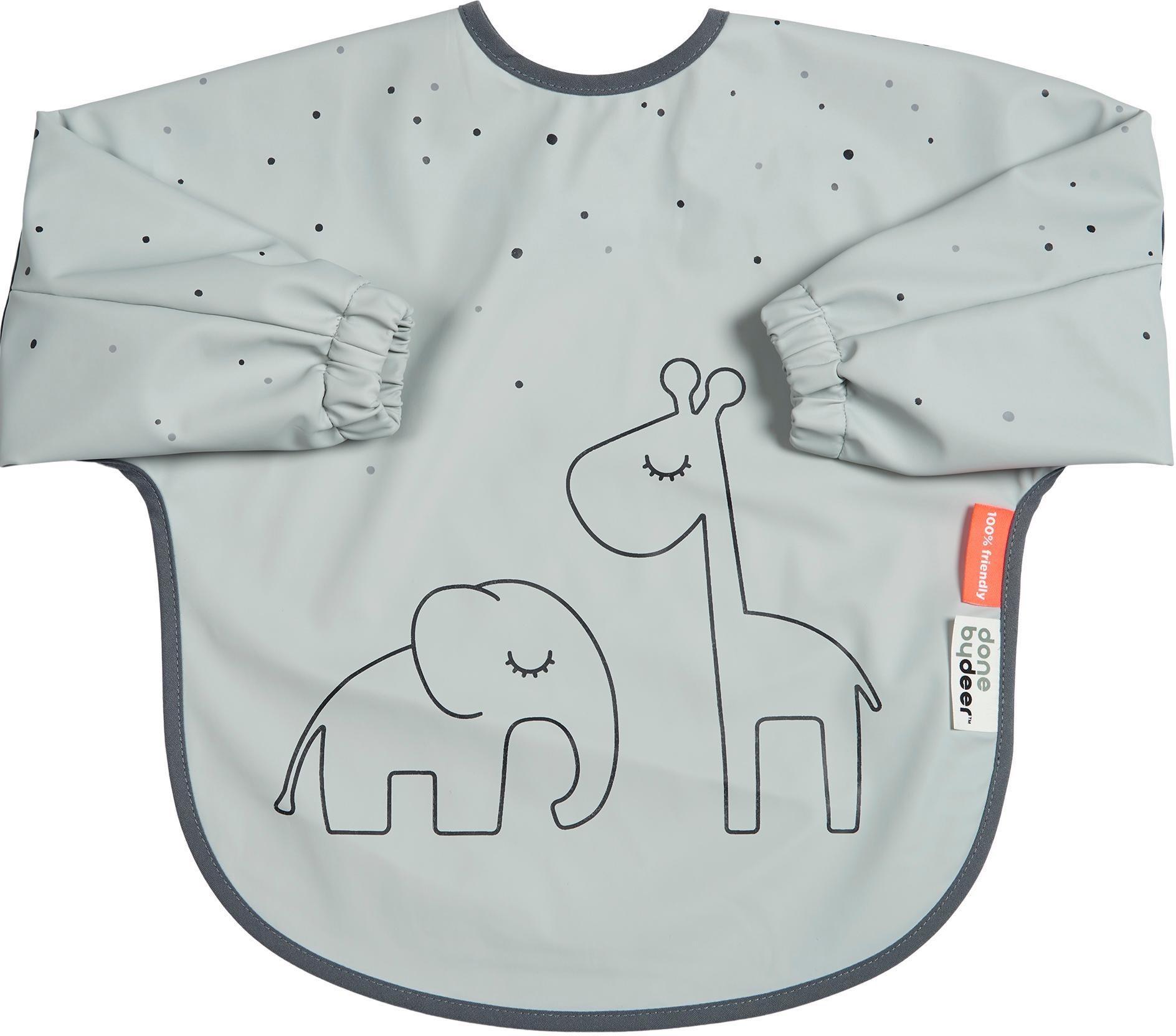 Ärmellätzchen Dreamy Dots, 100% Polyester, PU-beschichtet Öko-Tex zertifiziert, Grau, 35 x 72 cm