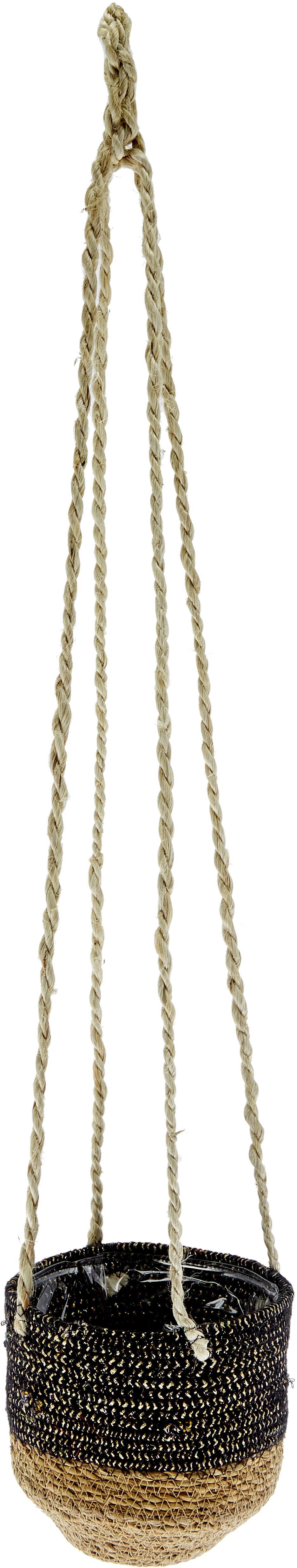 Portavaso pensile Osanippa, Foglie di Hogla, Marrone, nero, Ø 16 x Alt. 80 cm