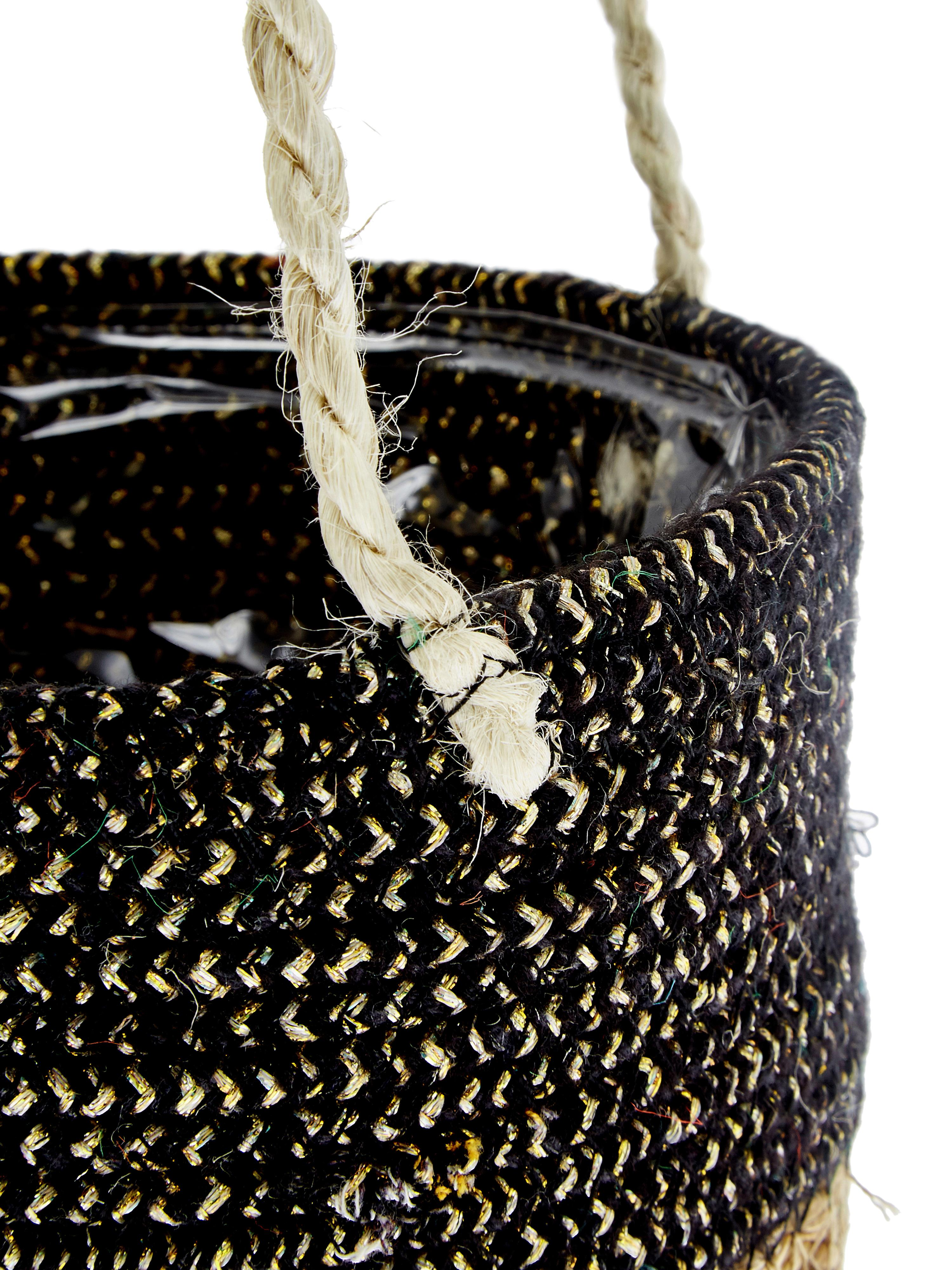 Maceta de pared Osanippa, Hojas de Hogla, Marrón, negro, Ø 16 x Al 80 cm