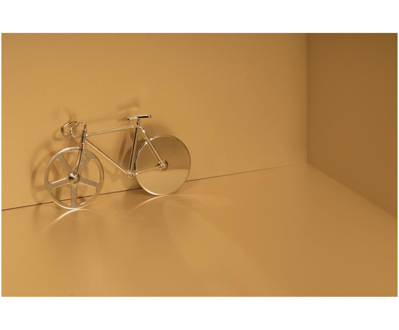 Goldfarbener Pizzaschneider Velo im Fahrraddesign aus Edelstahl, Edelstahl, beschichtet, Goldfarben, 23 x 13 cm