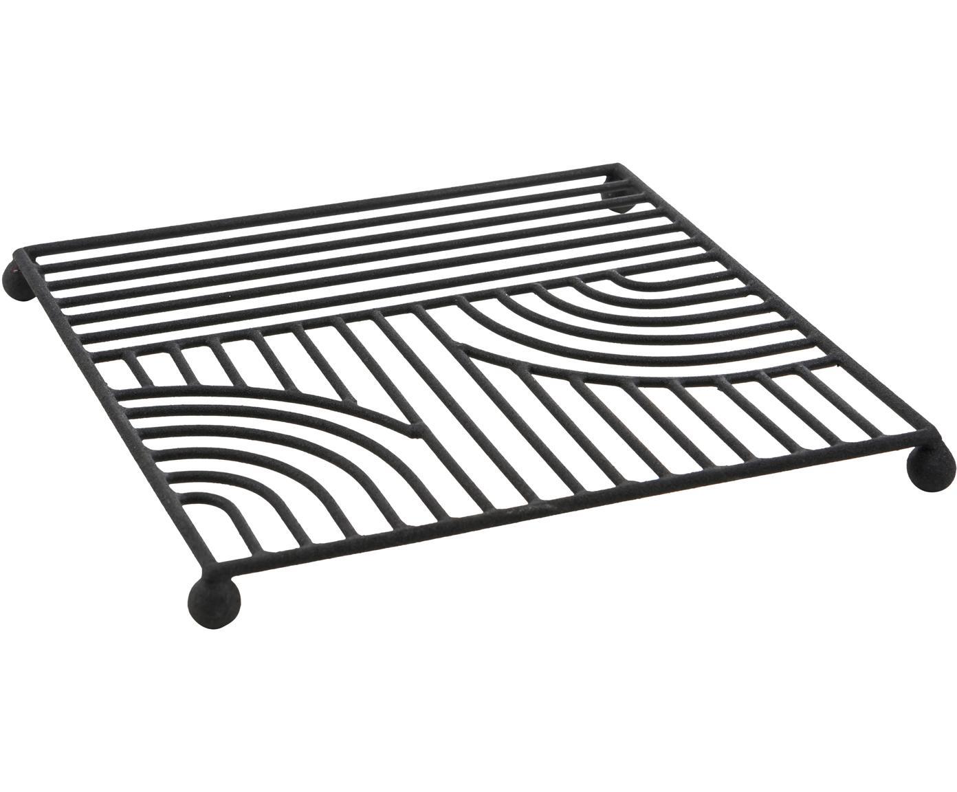 Sottopentola Maze, Metallo verniciato, Nero, Larg. 20 x Lung. 20 cm
