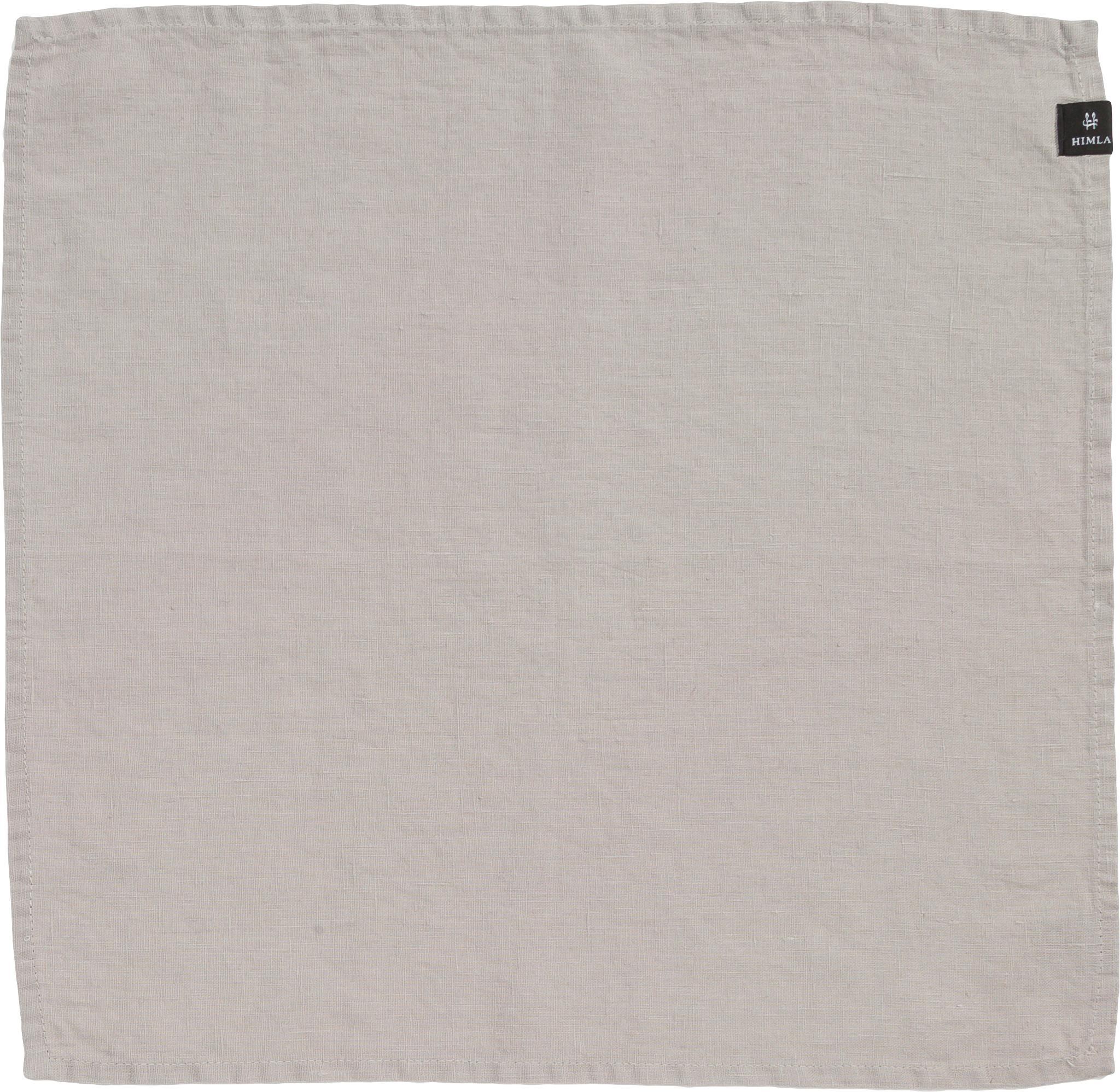 Servilletas de lino Sunshine, 4uds., 50%lino, 50%algodón, Blanco ceniza, L 45 x An 45 cm