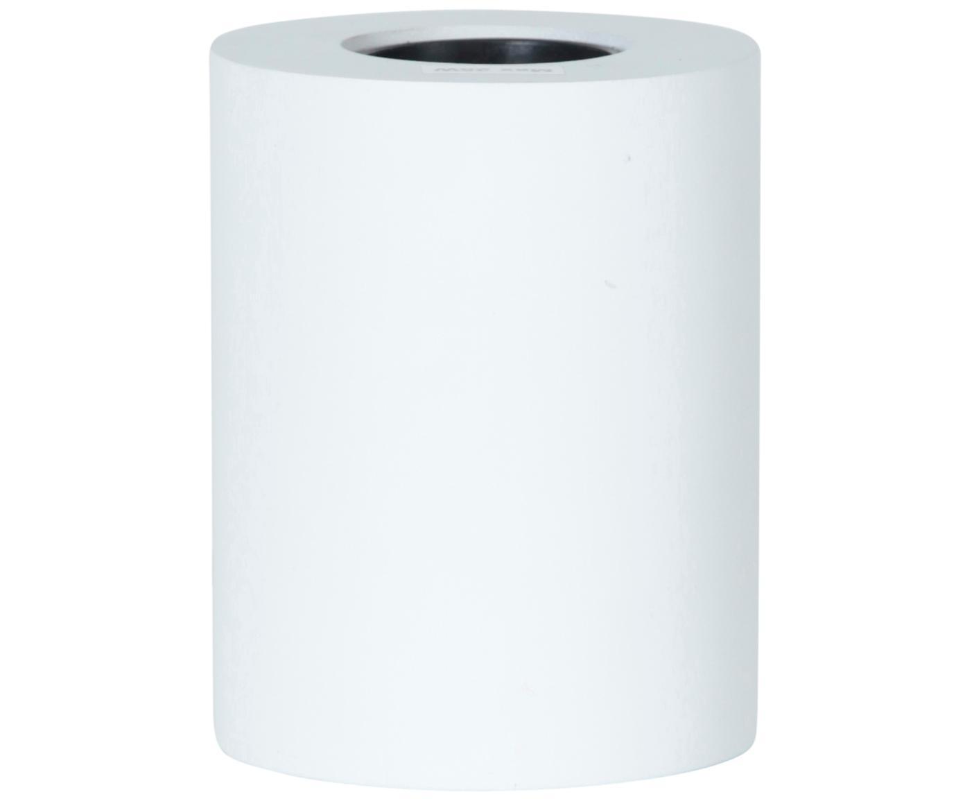 Kleine tafellamp Tub, Wit, Ø 8 x H 10 cm