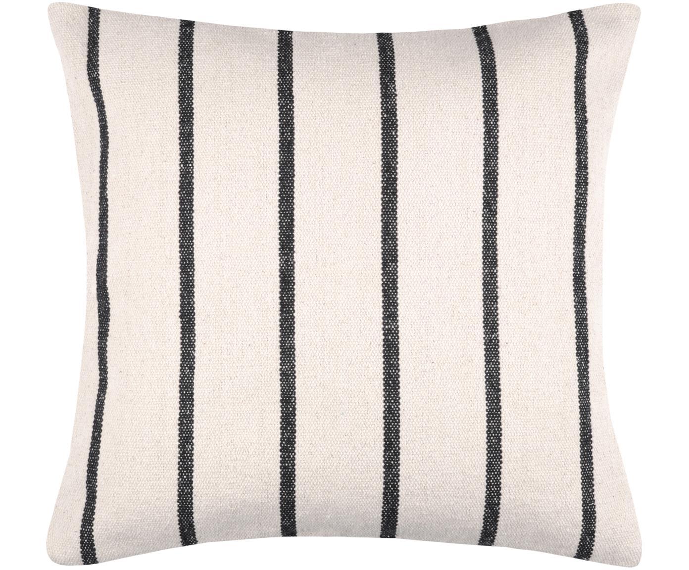 Cuscino con imbottitura St Trop, Rivestimento: cotone, Nero, bianco, Larg. 50 x Lung. 50 cm